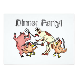 Invitation d'humour de dîner