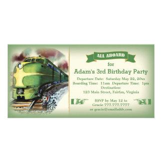 Invitation diesel vintage de fête d'anniversaire d photocartes