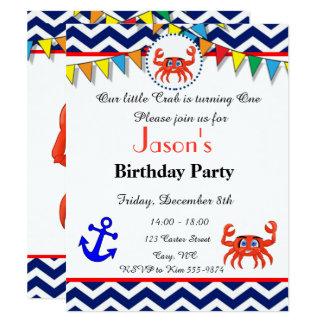 Invitation d'illustration de crabe