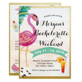 Invitation d'itinéraire de week-end de filles