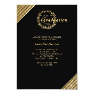 Invitation d'obtention du diplôme de guirlande