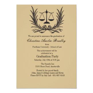 Invitation d'obtention du diplôme d'école de droit