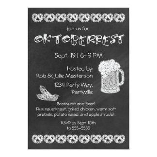 Invitation d'Oktoberfest de tableau