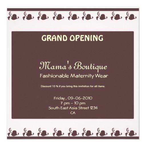 Invitation d'ouverture officielle