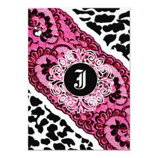 invitation du léopard 311-Pink et de la dentelle