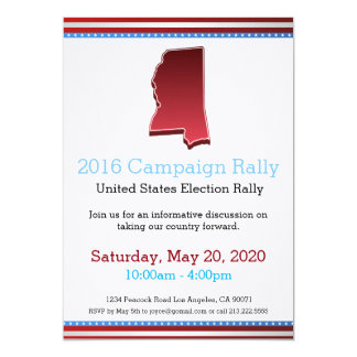Invitation du Mississippi de rassemblement de 2016