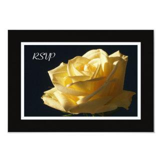Invitation du rose jaune RSVP