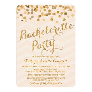 Invitation éclatant de partie de Bachelorette de Carton D'invitation 12,7 Cm X 17,78 Cm