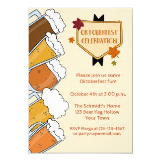 Invitation écumeuse de partie d'Oktoberfest de