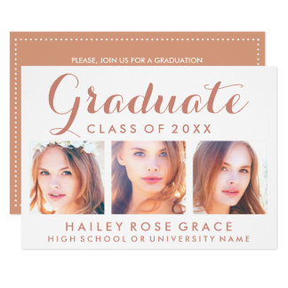 Invitation EDITABLE de fête de remise des diplômes