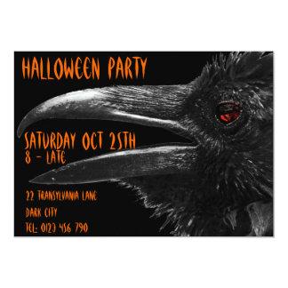 invitation effrayante de Halloween de corbeau