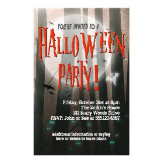 Invitation effrayante de partie de Halloween en Prospectus 14 Cm X 21,6 Cm