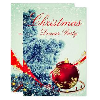 Invitation élégant de dîner de Noël d'hiver