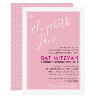 Invitation élégant de rose de tween d'étoile juive
