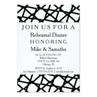 Invitation élégante classique de dîner de