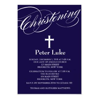 Invitation élégante de bébé de baptême carton d'invitation  12,7 cm x 17,78 cm
