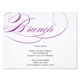 Invitation élégante de brunch de manuscrit -