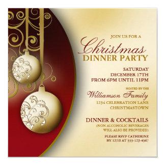 Invitation élégante de dîner de Noël