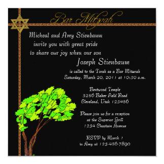 Invitation élégante de Mitzvah de barre
