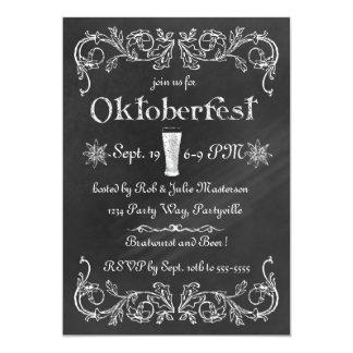 Invitation élégante d'Oktoberfest de tableau