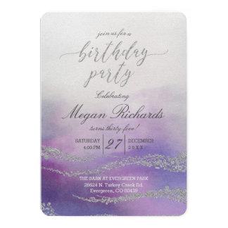 Invitation élégante inondée de fête d'anniversaire