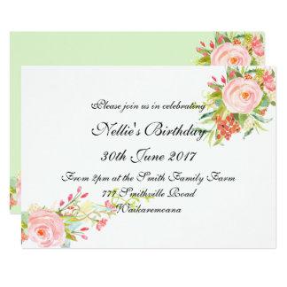 Invitation élégante simple d'anniversaire