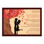 Invitation en baisse de mariage de chêne de coeurs carton d'invitation  11,43 cm x 15,87 cm