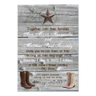 Invitation en bois affligée du cowboy