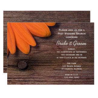 Invitation en bois de brunch de mariage de