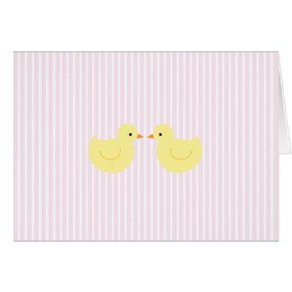 Invitation en caoutchouc de baby shower de canard cartes de vœux
