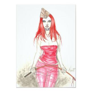 Invitation en hausse rouge de Phoenix Carton D'invitation 12,7 Cm X 17,78 Cm