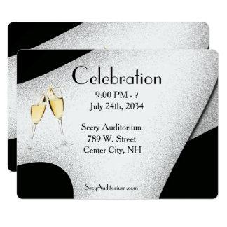 Invitation en verre de Champagne de célébration