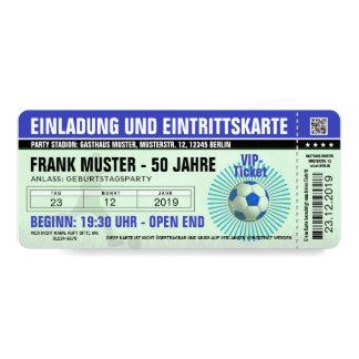 invitation et billet bleus (billet de football)