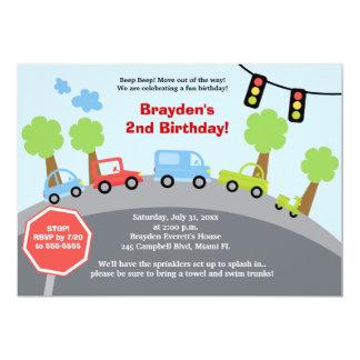 Invitation faite sur commande d'anniversaire de carton d'invitation  12,7 cm x 17,78 cm