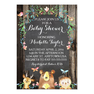 Invitation faite sur commande de baby shower