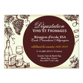 Invitation faite sur commande de vin et de fromage