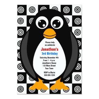 Invitation faite sur commande mignonne de pingouin