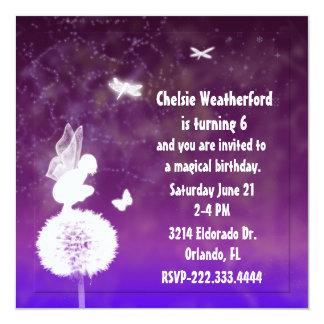 Invitation féerique de fête d'anniversaire de la carton d'invitation  13,33 cm