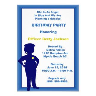 Invitation femelle de fête d'anniversaire de