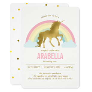 Invitations Avec Licornes Zazzle Fr