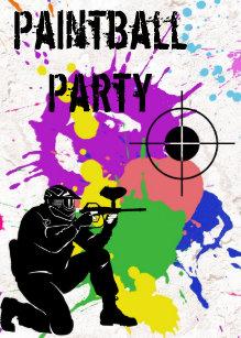 Invitations Faire Part Paintball Zazzle Fr