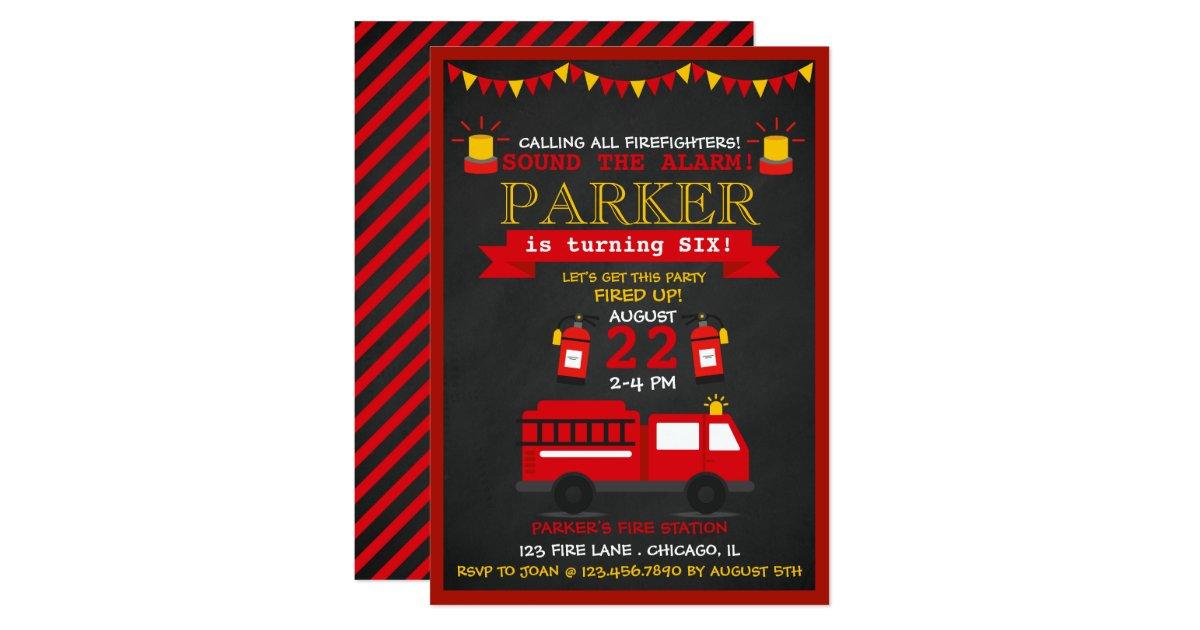 Citation Image: Invitation Anniversaire A Imprimer Pompier