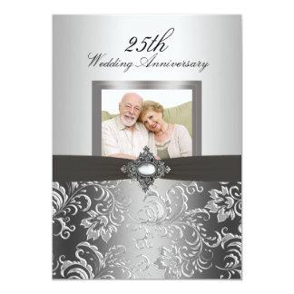 Invitation floral d'anniversaire de mariage de