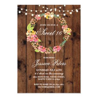 Invitation floral de fleurs de guirlande de partie