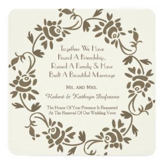 Invitation floral européen élégant de