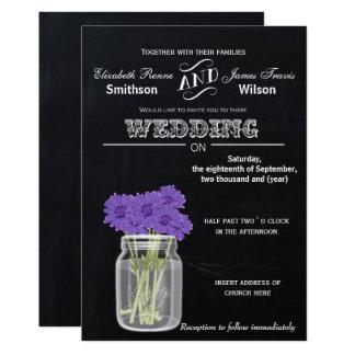Invitation floral vintage de mariage de pot de