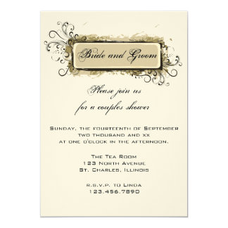 Invitation florale abstraite de wedding shower de