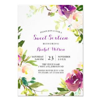 Invitation florale assez pourpre du bonbon 16