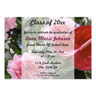 Invitation florale d obtention du diplôme
