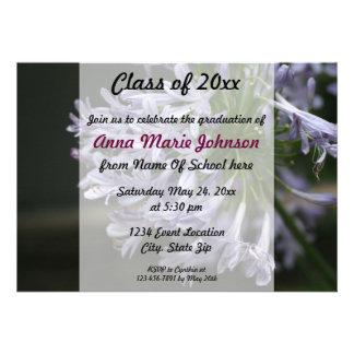 Invitation florale d obtention du diplôme de coule